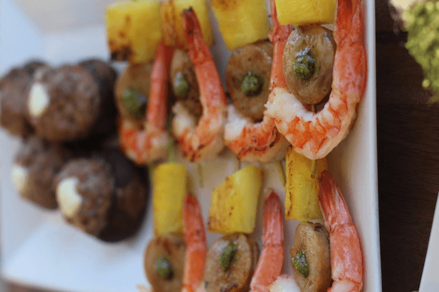 Paleo Recipes - Shrimp, Spicy Sausage & Pineapple Skewers