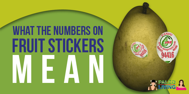 Paleo Food - Numbers On Stickers On Fruit