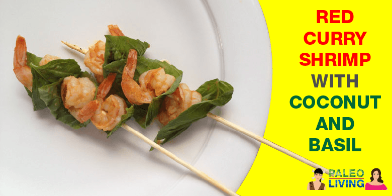 Paleo Recipe - Red Curry Shrimp With Coconut & Basil